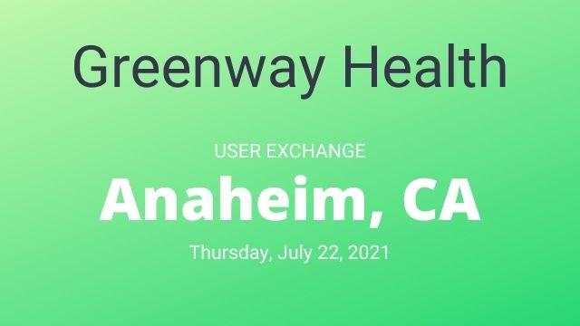 Greenway Health User Exchange 2021